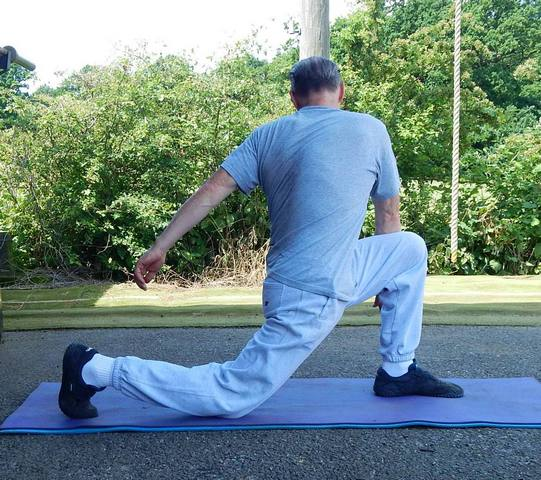 Hip Flexor Stretching Exercises for Kettlebell Training Preparation. Finish Position